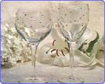 Crystal Glasses w/ Swarovsky Accents